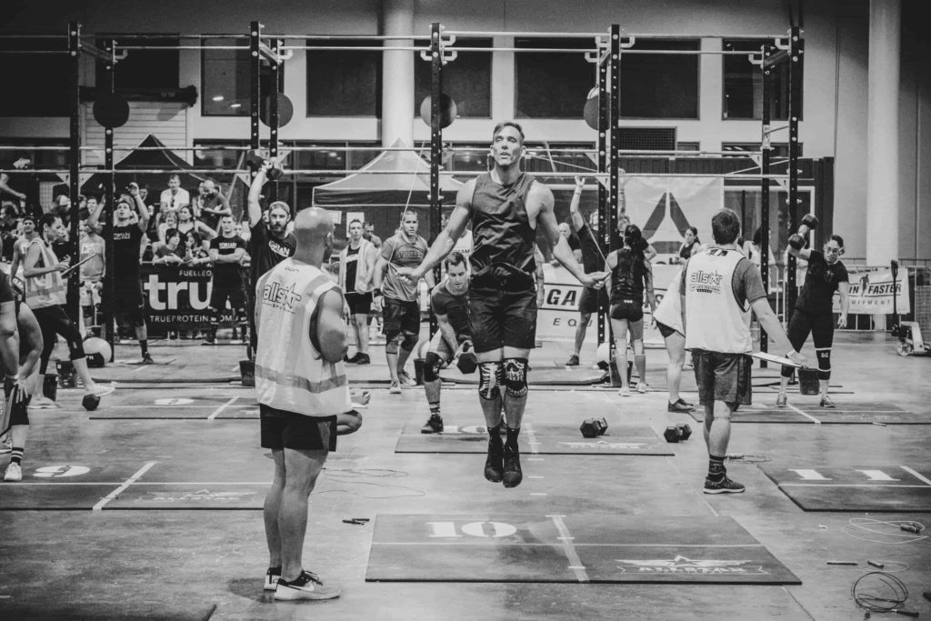 Clint Withers competing at All Stars CrossFit Competition